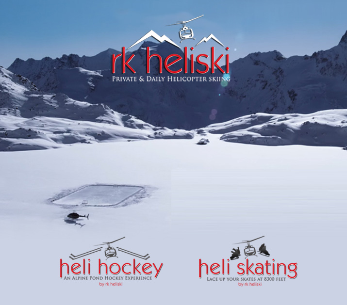 Apline Ice Hockey with RK Heliskiing