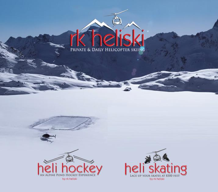 Apline Ice Hockey with RK Heliskiing